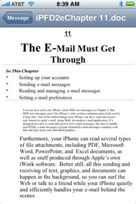 Ansicht von Text aus einem Microsoft Word-Anhang.