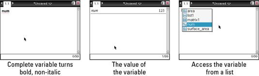 ���� - Wie man eine Variable auf dem TI-Nspire Recall