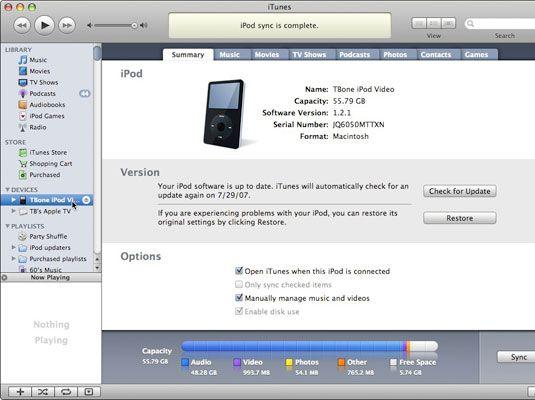 Verwenden Sie iTunes zu aktualisieren oder wiederherzustellen Ihren iPod.