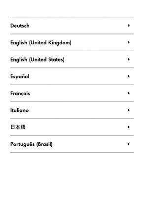 Wählen Sie eine Sprache, die hier auf der ersten Generation Kindle Paperwhite.