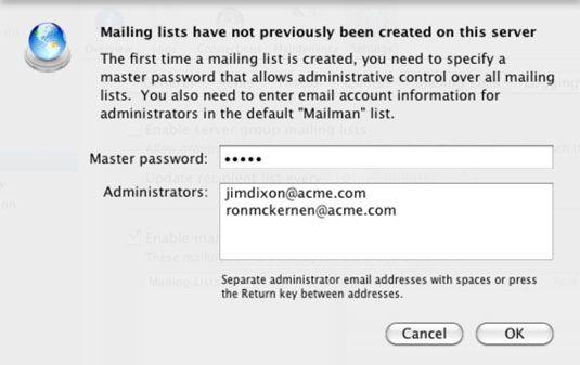 ���� - Wie Einrichten einer Mailingliste in Löwen E-Mail-Server einrichten