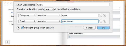 ���� - So richten Sie einen Smart Group in Mac OS X Lion up