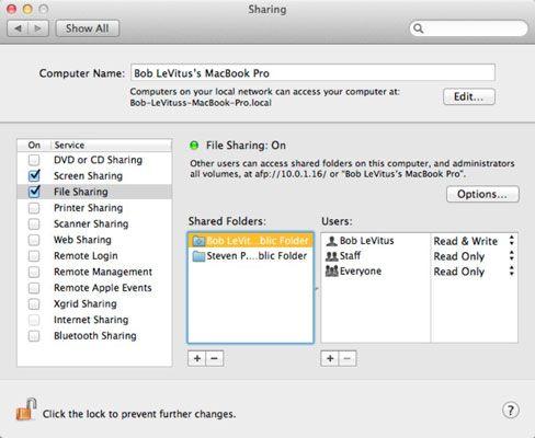 ���� - Wie Einrichten von File Sharing in Mac OS X Lion