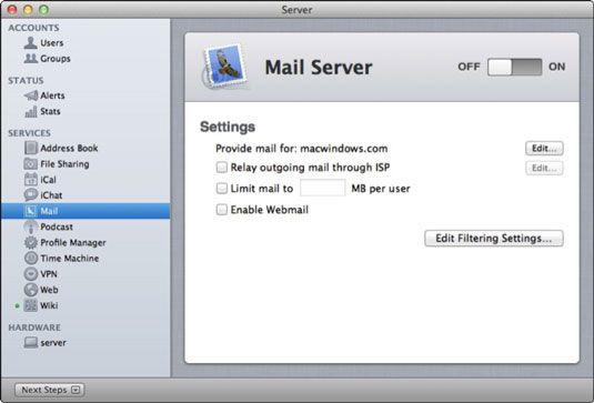 ���� - Wie Einrichten Lion E-Mail mit dem Server App