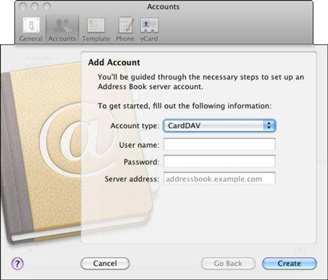 ���� - Wie Einrichten Clientgeräten der Benutzer Kontakte in Lion Server zu teilen