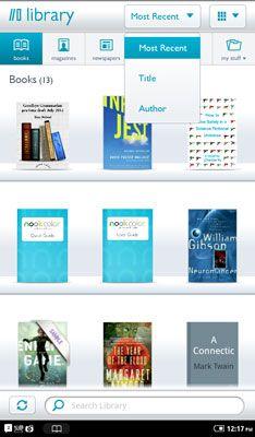 ���� - Wie zu sortieren und anzeigen Artikel auf Ihrer NOOK eReader