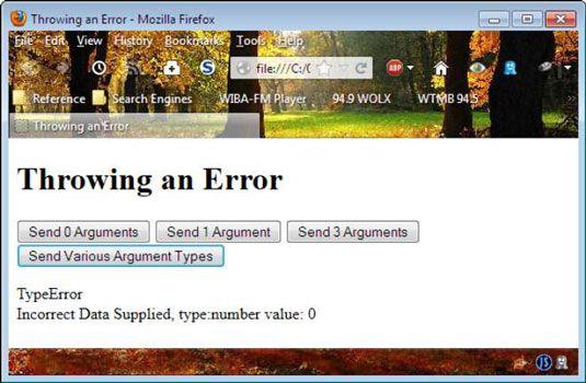 ���� - Wie Fehler in javascript zu werfen mit HTML zu programmieren