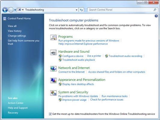 ���� - Beheben von Problemen, die Windows 7 Action Center verwenden
