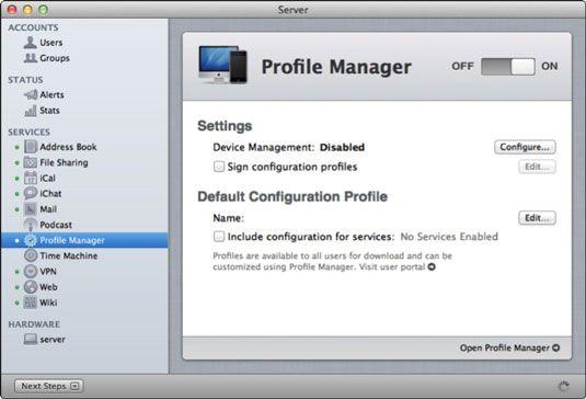 ���� - Wie auf und Set Up Lion Server Profil-Manager zu drehen