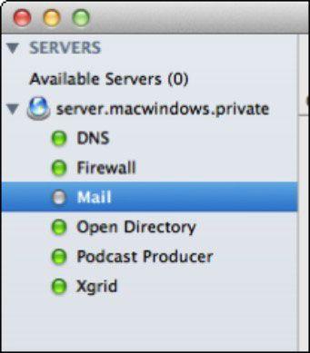 ���� - Wie zum Einschalten und Start Lion Mail-Dienst mit Server-Admin
