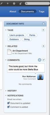 ���� - So verwenden Sie Kommentare, Tags und Benachrichtigungen in Lion Server des Built-in Web-Site