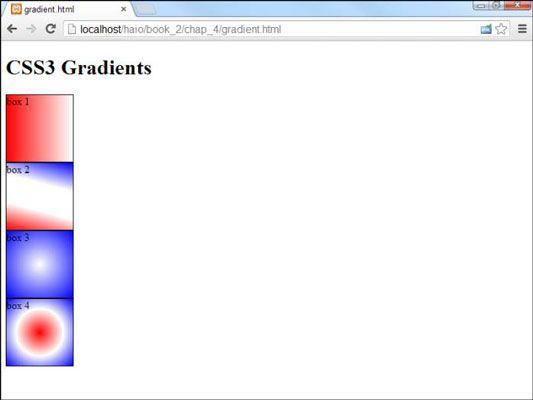 ���� - So verwenden CSS3 Gradients