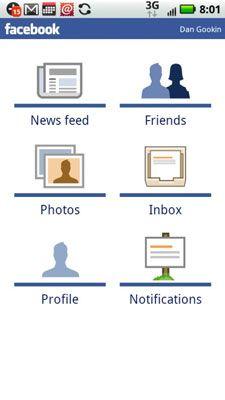 ���� - Wie Verwenden von Facebook auf Ihre Droid X