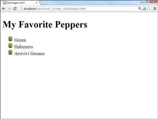 ���� - Wie Sie Bilder in Listen für HTML5 und CSS3 Programmierung verwenden