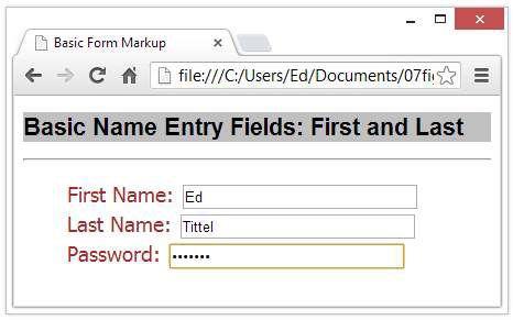 ���� - Wie man Kennwort Felder und versteckte Felder in HTML5 Formular verwenden
