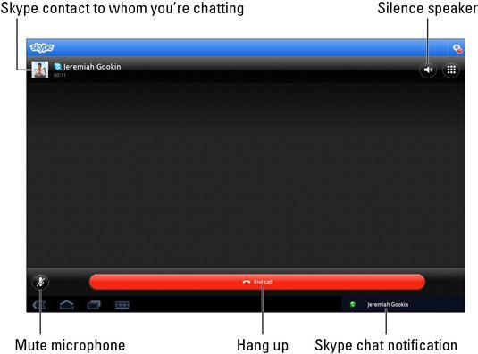 ���� - Wie Verwenden von Skype auf Galaxy Tab Chat