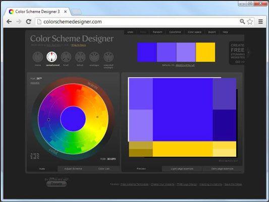 ���� - Wie Sie das Farbschema-Designer für Ihre HTML5 und CSS3 basierte Web-Seiten verwenden
