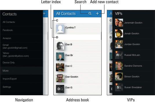 ���� - Wie die Kontakte-App auf Ihrem Amazon Feuer Telefon verwenden