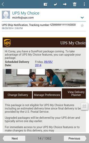 ���� - Wie die E-Mail-App auf Ihrem Tab 4 NOOK verwenden