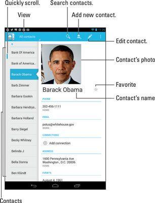 ���� - So erreichen Sie Ihre Android Tablet Adressbuch verwenden