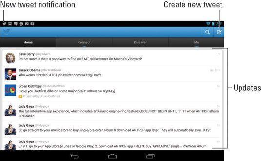 ���� - Wie Verwenden von Twitter auf dem Nexus 7 Tablet