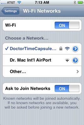 Überprüfen Sie Ihre Wi-Fi-Optionen.