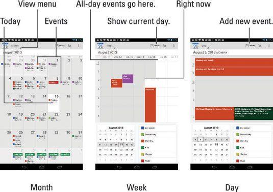 ���� - Wie Sie Ihren Kalender auf dem Nexus 7 Tablet anzeigen