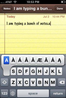 ���� - Wie zu schreiben Notizen auf dem iPhone mit dem Notes-App