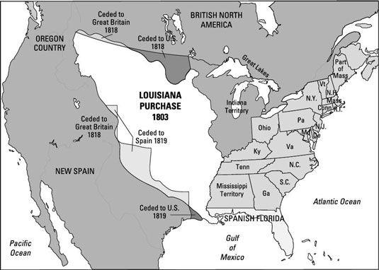 ���� - Jefferson macht den Kauf von Louisiana