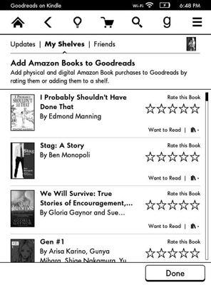 ���� - Kindle Paperwhite und Goodreads Integration