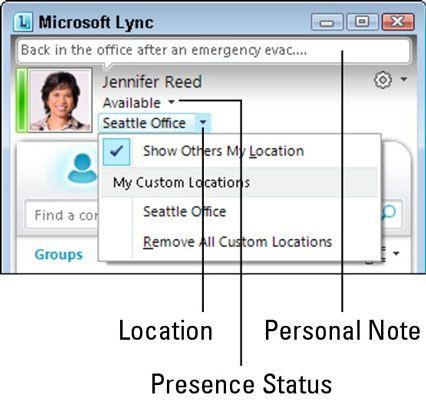 ���� - Menschen Lassen Sie Ihren Anwesenheitsstatus Wissen mit Lync Online