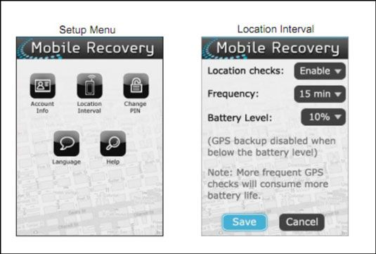 Verizon Wireless's Mobile Device recovery app.