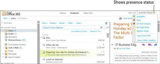 ���� - Lync Online Anwesenheitsanzeige in Office-Anwendungen