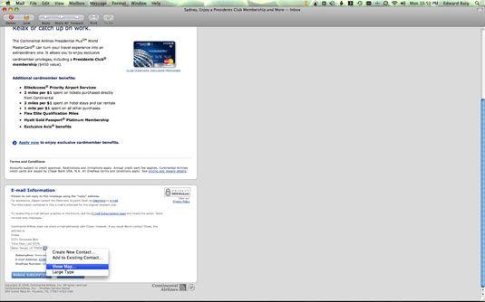 ���� - Mac E-Mail-Funktionen
