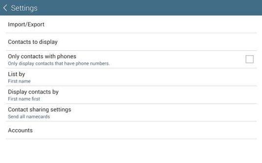 ���� - Verwalten von Kontakten auf der Galaxy Tab 4 NOOK