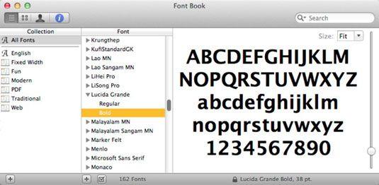 ���� - Verwalten von Fonts mit Font Book in Mac OS X Lion