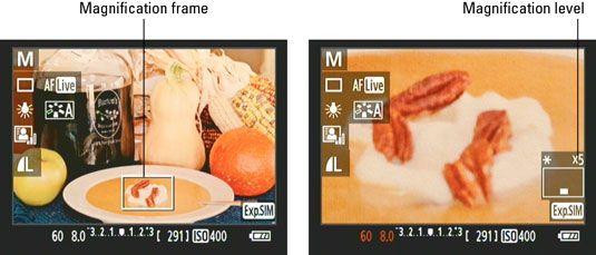 ���� - Manuelle Fokussierung eine Canon Rebel T3 Serie Kamera im Live-View