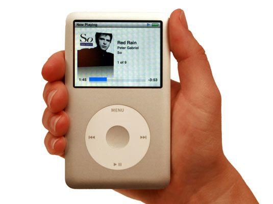 Sehen Sie sich die sechste Generation des iPod classic Modell.