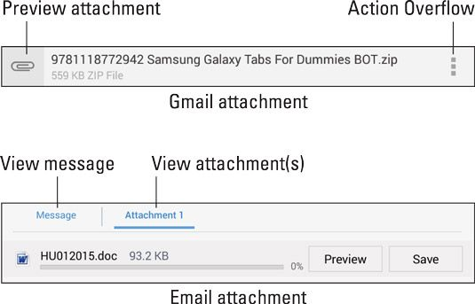 ���� - Mail-Anhänge auf Ihrem Android-Tablet