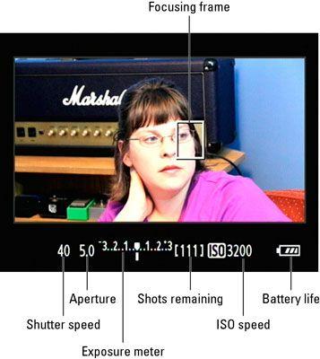 ���� - Filmmodus Information Display-Optionen auf einer Canon EOS 60D