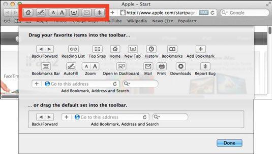 ���� - Navigieren in der Safari Symbolleiste in Mac OS X Lion