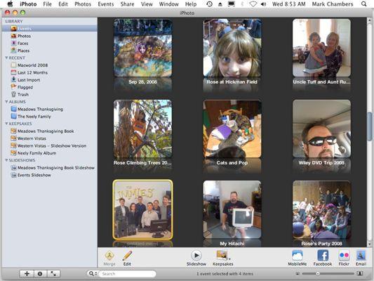 ���� - Organisieren Foto Ereignisse in iPhoto