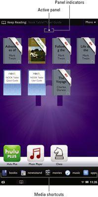 ���� - Überblick über den Home-Bildschirm auf einem NOOK Tablet