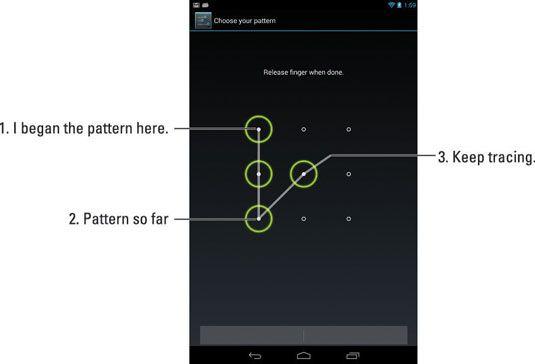 ���� - Kennwortoptionen für Ihr Nexus 7 Tablet