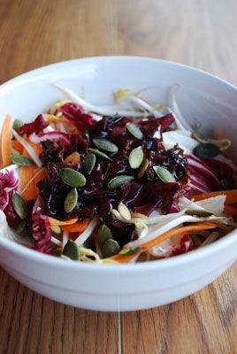 ���� - Rezept für gepresste Salat mit Wakame