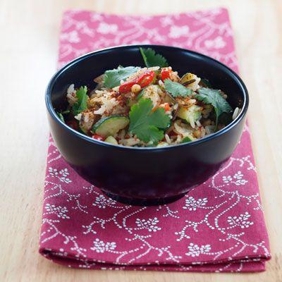 ���� - Rezept für Wildreis mit Kirschen und Pinienkernen in Salat Cups