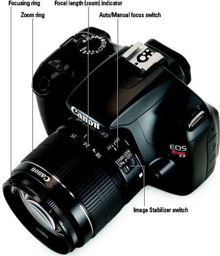 ���� - Der Wechsel von Autofokus auf manuellen Fokus auf Ihre Canon EOS Rebel T3 / 1100D