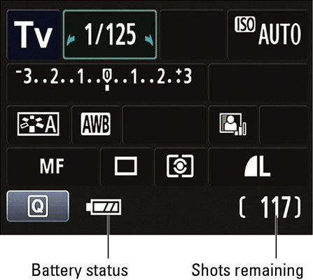 ���� - Aufnahmeeinstellungen für eine Canon EOS Rebel T3 Serie Kamera