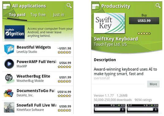 ���� - Shopping für Apps im Android Market