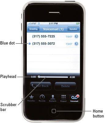 ���� - Sieben durch Voicemail auf Ihrem iPhone